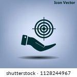 target vector icon   Shutterstock .eps vector #1128244967