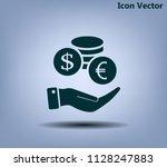 money  coins  stateroom vector...   Shutterstock .eps vector #1128247883