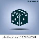cubes for the game vector icon.   Shutterstock .eps vector #1128247973