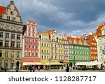 wroclaw poland   2 july 2018 ... | Shutterstock . vector #1128287717