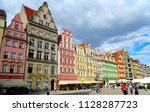 wroclaw poland   2 july 2018 ... | Shutterstock . vector #1128287723