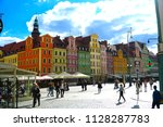 wroclaw poland   2 july 2018 ... | Shutterstock . vector #1128287783
