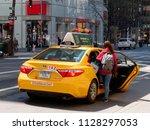 new york city  usa   may 2018 ...   Shutterstock . vector #1128297053