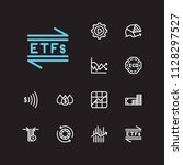 finance icons set. chart and...