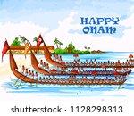 vector design of boat race...   Shutterstock .eps vector #1128298313