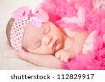 sleeping  newborn baby  at the... | Shutterstock . vector #112829917