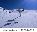 people skiing on white snow ...   Shutterstock . vector #1128314513
