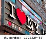 new york city  usa   apr 2018 ...   Shutterstock . vector #1128329453