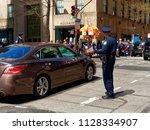 new york city  usa   apr 2018 ...   Shutterstock . vector #1128334907