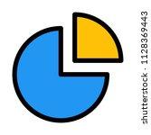 quarter pie chart | Shutterstock .eps vector #1128369443