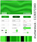 light green vector ui ux kit...