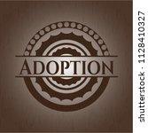 adoption retro wooden emblem | Shutterstock .eps vector #1128410327