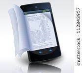 smartphone e book  illustration ... | Shutterstock .eps vector #112843957