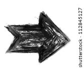 black arrow isolated on white... | Shutterstock .eps vector #112845127
