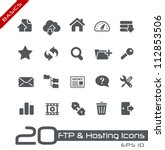 FTP & Hosting Icons // Basics - stock vector