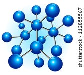 Molecule Structure Particle Atom - stock photo