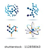 set of abstract icons  chemical ... | Shutterstock .eps vector #112858063
