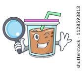 detective bubble tea character... | Shutterstock .eps vector #1128593813
