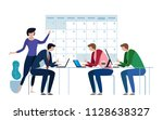 company business team working... | Shutterstock .eps vector #1128638327