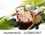 spa still life with black... | Shutterstock . vector #1128661967