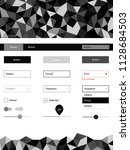 dark gray vector ui kit in...