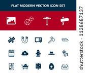 modern  simple vector icon set... | Shutterstock .eps vector #1128687137