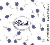 flower illustration pattern....   Shutterstock .eps vector #1128693173