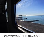 view on black sea from window... | Shutterstock . vector #1128695723