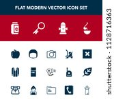 modern  simple vector icon set... | Shutterstock .eps vector #1128716363