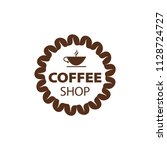 coffee shop logo design element ...   Shutterstock .eps vector #1128724727