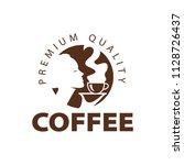 coffee shop logo design element ...   Shutterstock .eps vector #1128726437