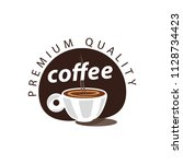 coffee shop logo design element ...   Shutterstock .eps vector #1128734423