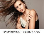 health  people and beauty... | Shutterstock . vector #1128747707