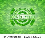 100  recycled green mosaic... | Shutterstock .eps vector #1128752123