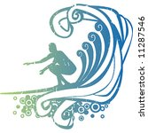 surf illustration | Shutterstock .eps vector #11287546