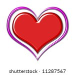 red chrome heart with purple... | Shutterstock . vector #11287567