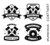 carpentry woodwork logos and... | Shutterstock .eps vector #1128776057
