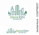 green city building logo ... | Shutterstock .eps vector #1128798257