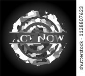 act now written on a grey... | Shutterstock .eps vector #1128807623