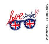london poster. great britain...   Shutterstock .eps vector #1128835097