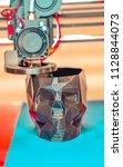 3d printer printing a model in...   Shutterstock . vector #1128844073