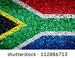 south african flag on texture | Shutterstock . vector #112886713
