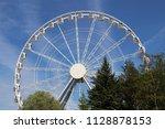 big ferris wheel in an... | Shutterstock . vector #1128878153