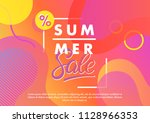 summer sale banner.unique... | Shutterstock .eps vector #1128966353