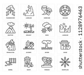 set of 16 icons such as...   Shutterstock .eps vector #1128976463