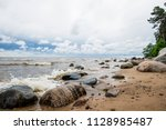 stormy weather. a view of the... | Shutterstock . vector #1128985487