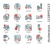 set of 16 icons such as car... | Shutterstock .eps vector #1128992213