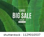 abstract summer sale background ... | Shutterstock .eps vector #1129010537