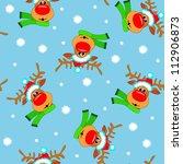 christmas blue seamless... | Shutterstock .eps vector #112906873
