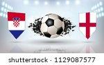 football cup 2018  semi finals... | Shutterstock .eps vector #1129087577